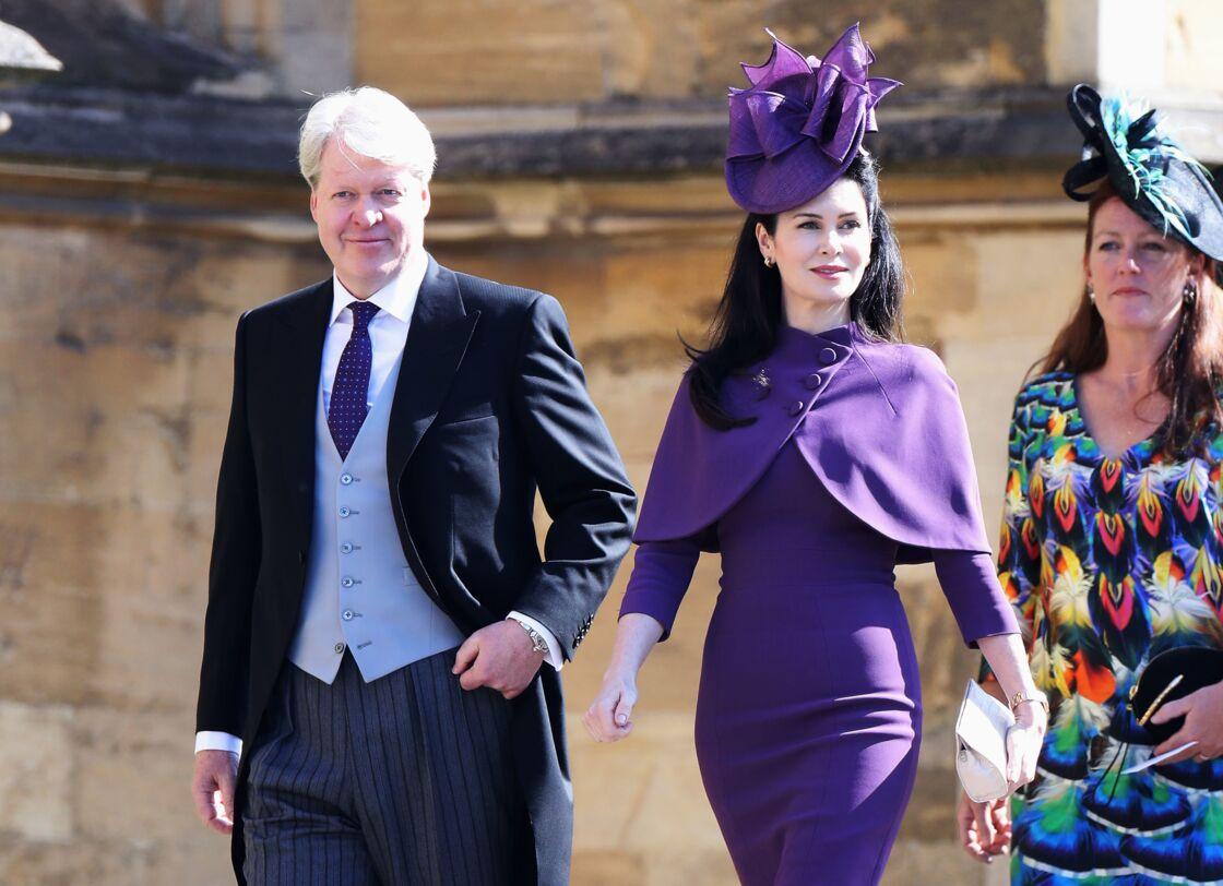 Charles et Karen Spencer au mariage du prince Harry et de Meghan Markle, le 19 mai 2018.