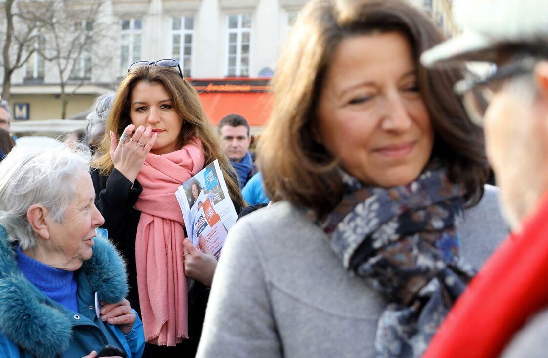 Marlène Schiappa et Agnès Buzyn en campagne le 22 février 2020