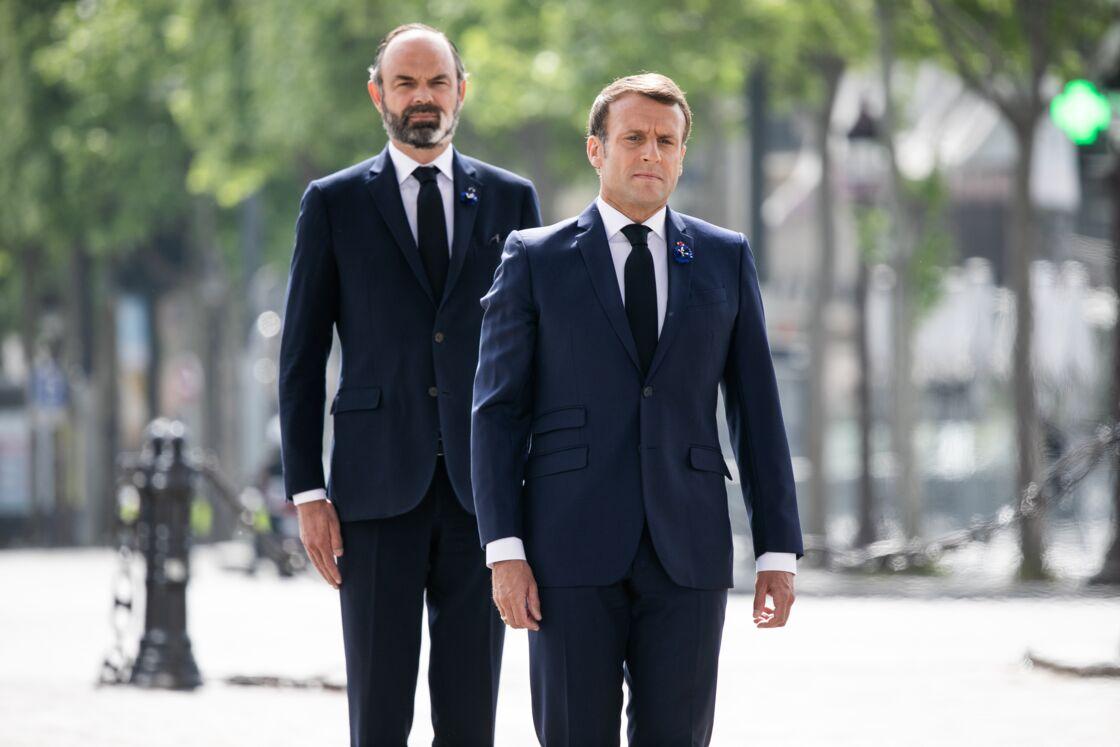 Édouard Philippe et Emmanuel Macron, le 8 mai 2020