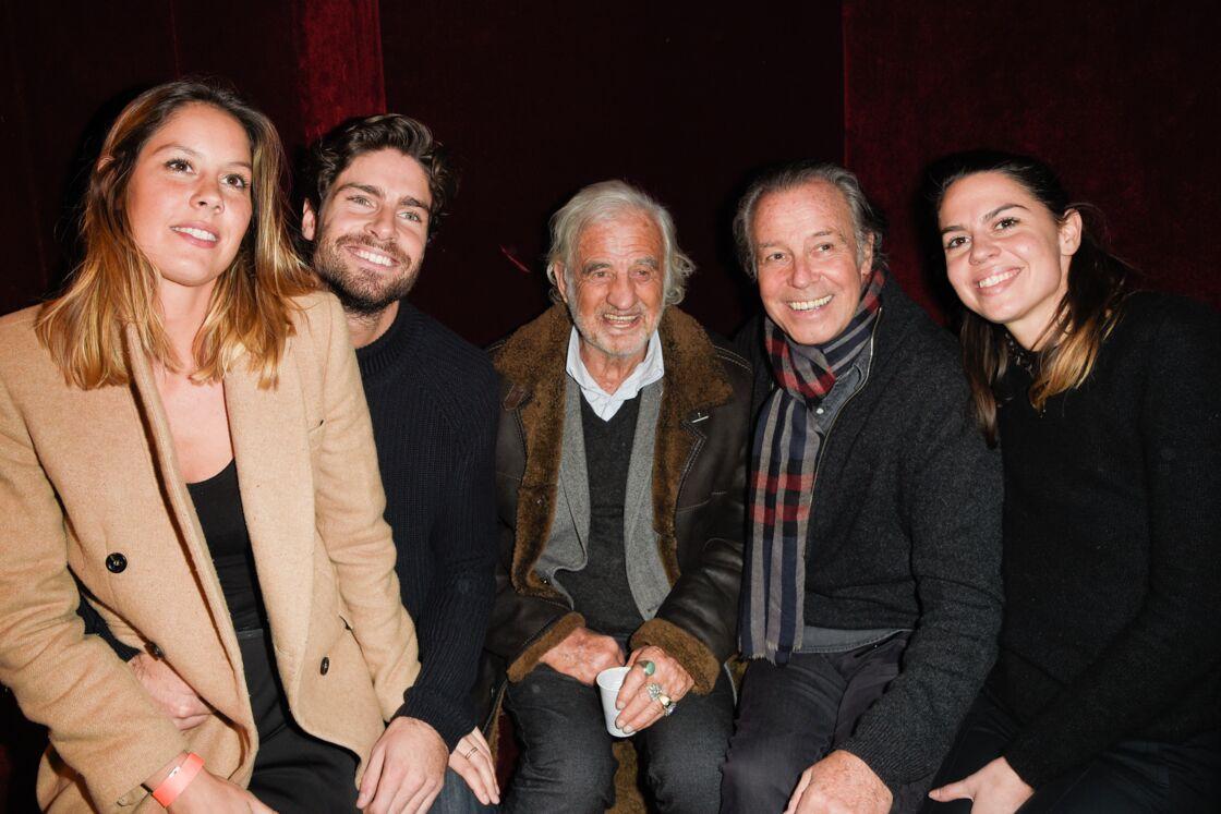 Aux cotés de Jean-Paul Belmondo, Michel Leeb et ses enfants Elsa Leeb, Fanny Leeb, Tom Leeb