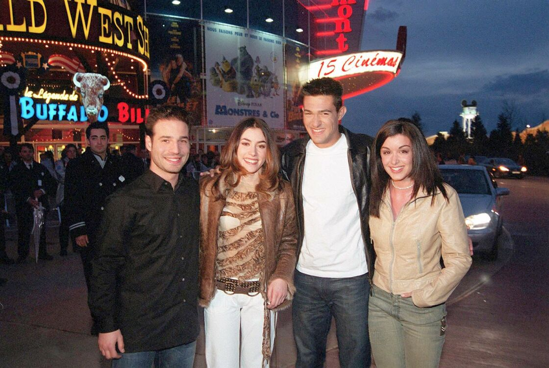 Mario, Olivia Ruiz, Jean Pascal et Jenifer de la Star Academy a Disneyland le 16 mars 2003