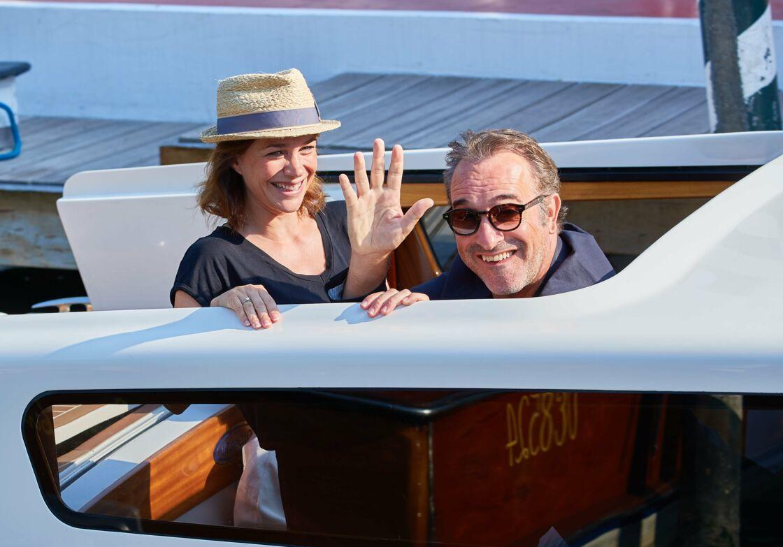 Nathalie Péchalat et Jean Dujardin font le show à la Mostra de Venise, en septembre 2019.