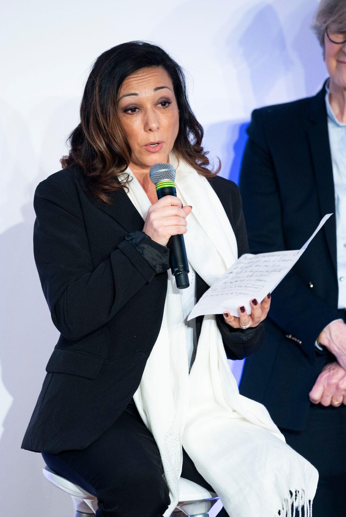 Sarah Abitbol, lors de la Convention nationale pour la prévention de la violence sexuelle dans le sport à Paris le 21 février 2020.
