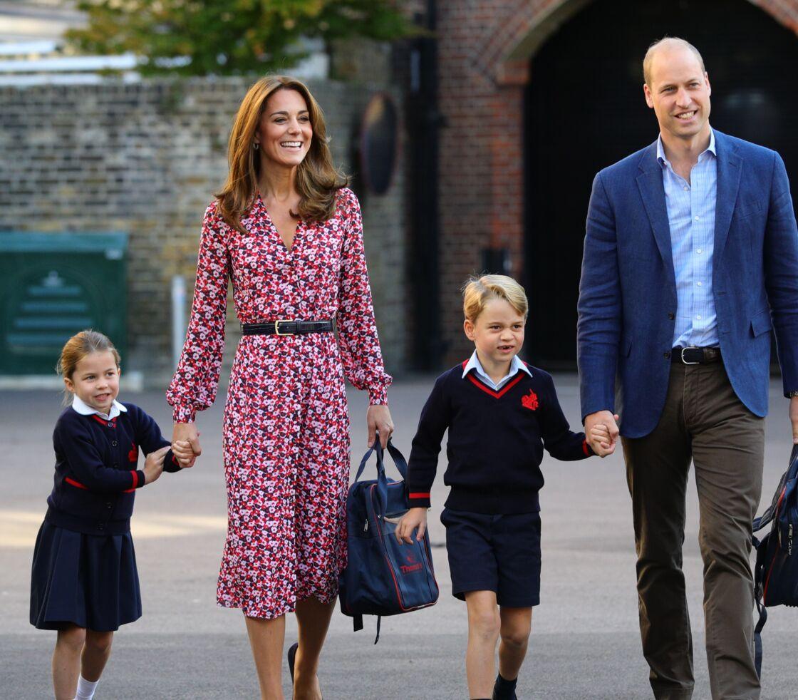 Kate Middleton et le prince William lors de la rentrée scolaire de Charlotte et George