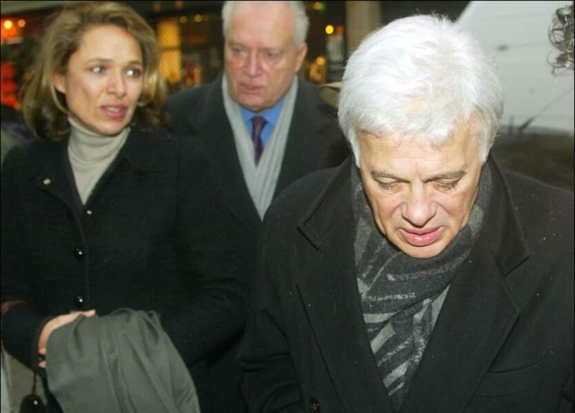 Guy Bedos était présent à l'enterrement de Sophie Daumier le 8 janvier 2004.