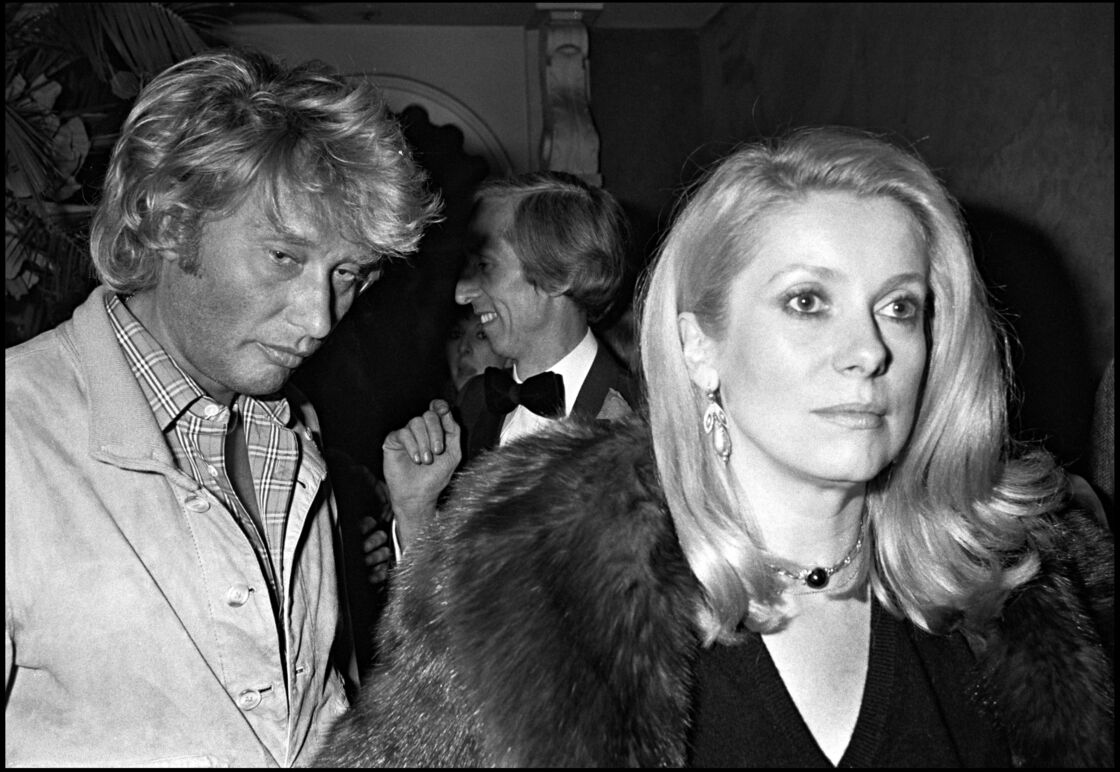 Catherine Deneuve et Johnny Hallyday en 1980 à Paris