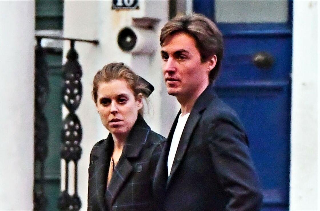 La princesse Beatrice et son fiancé Edoardo Mapelli Mozzi, à Londres, en novembre 2019.
