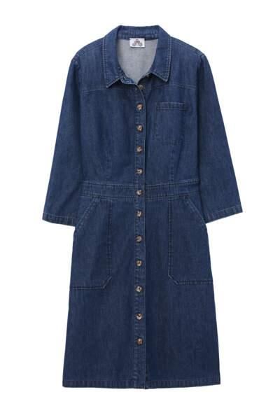 Robe en jean, 49,99€, Etam.