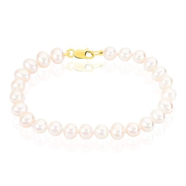 Bracelet or et perles de culture, 99€, Histoire d'Or.
