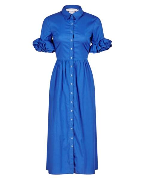 Robe chemise, 395€, Anne Fontaine.