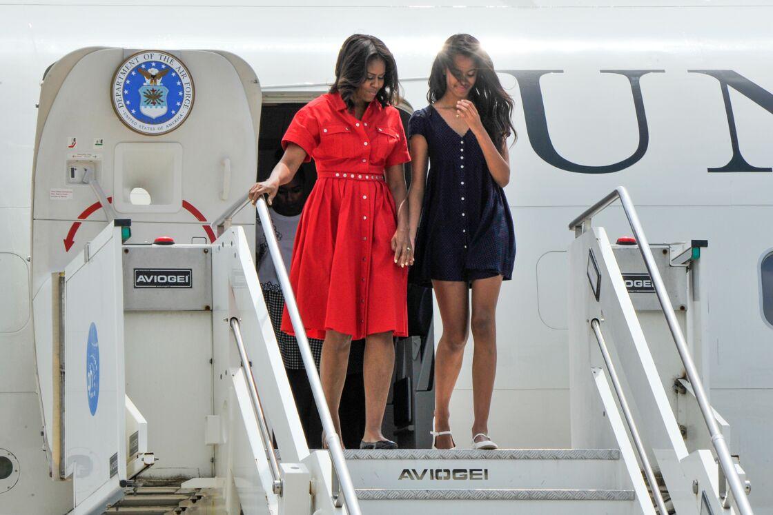 Michelle Obama stylée avec sa fille.