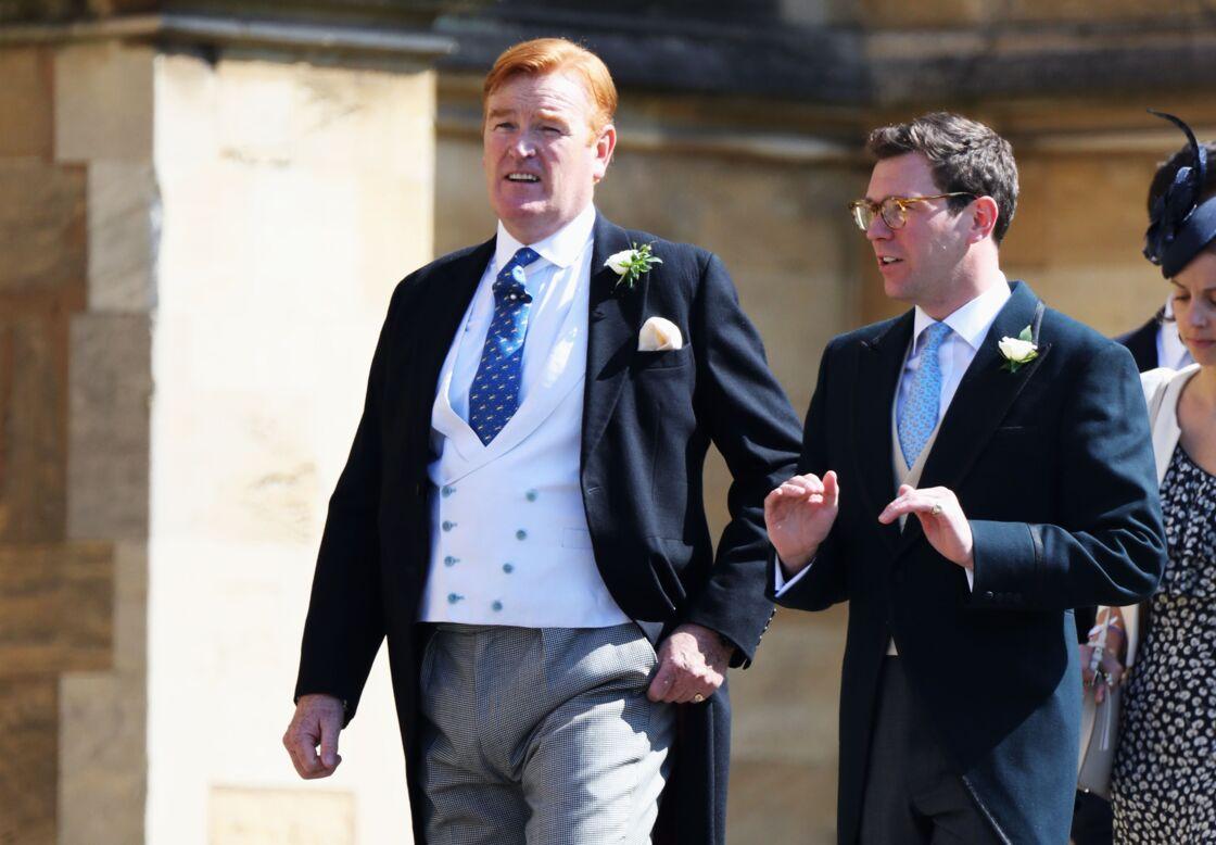Mark Dyer (à gauche) au mariage de Meghan et Harry, le 19 mai 2018.