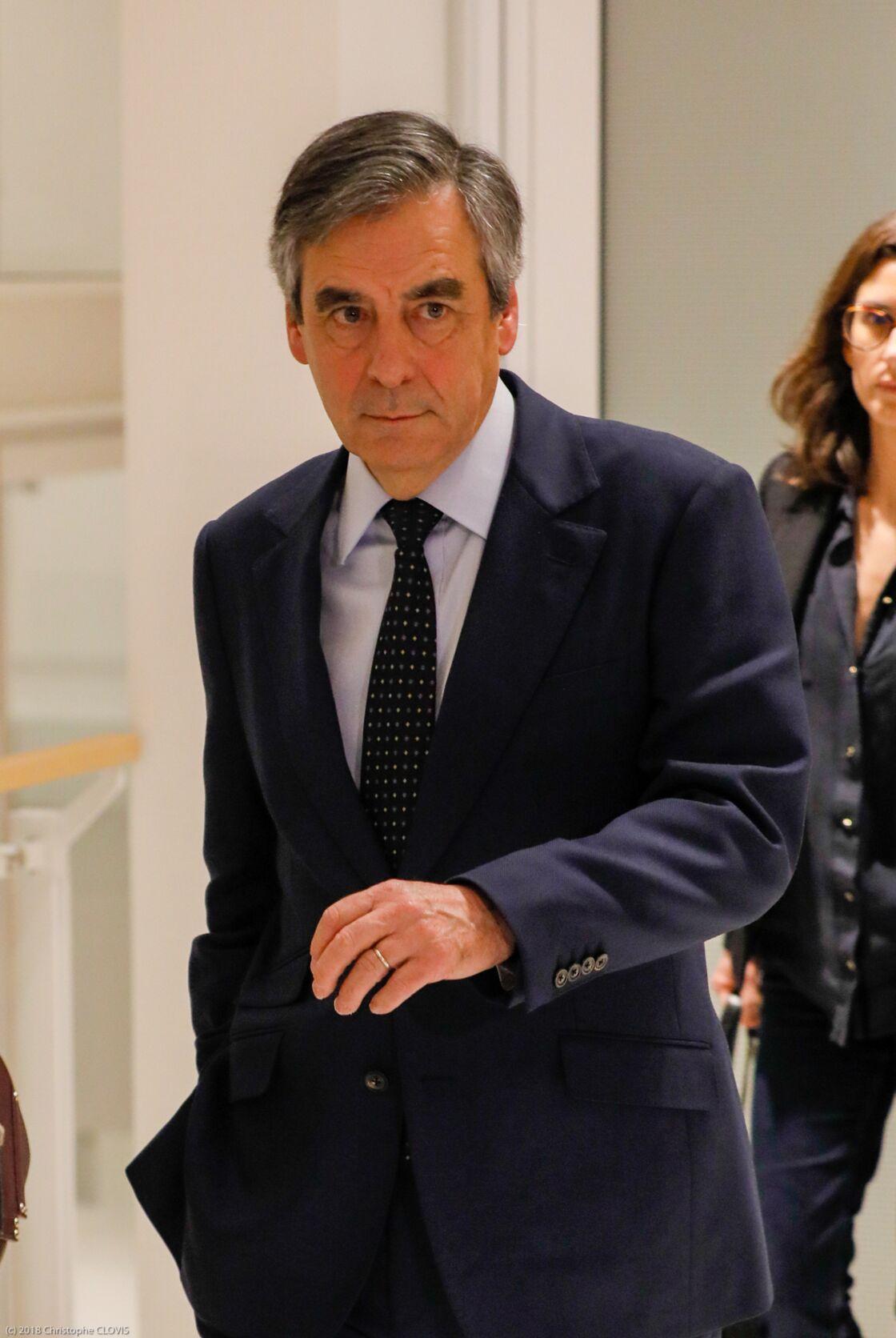 François Fillon à la sortie de la 32ème chambre du tribunal correctionnel de Paris, le 11 mars 2020.