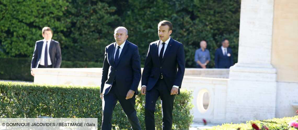 Emmanuel Macron « fidèle » en amitié à Gérard Collomb malgré le coup de tonnerre - Gala