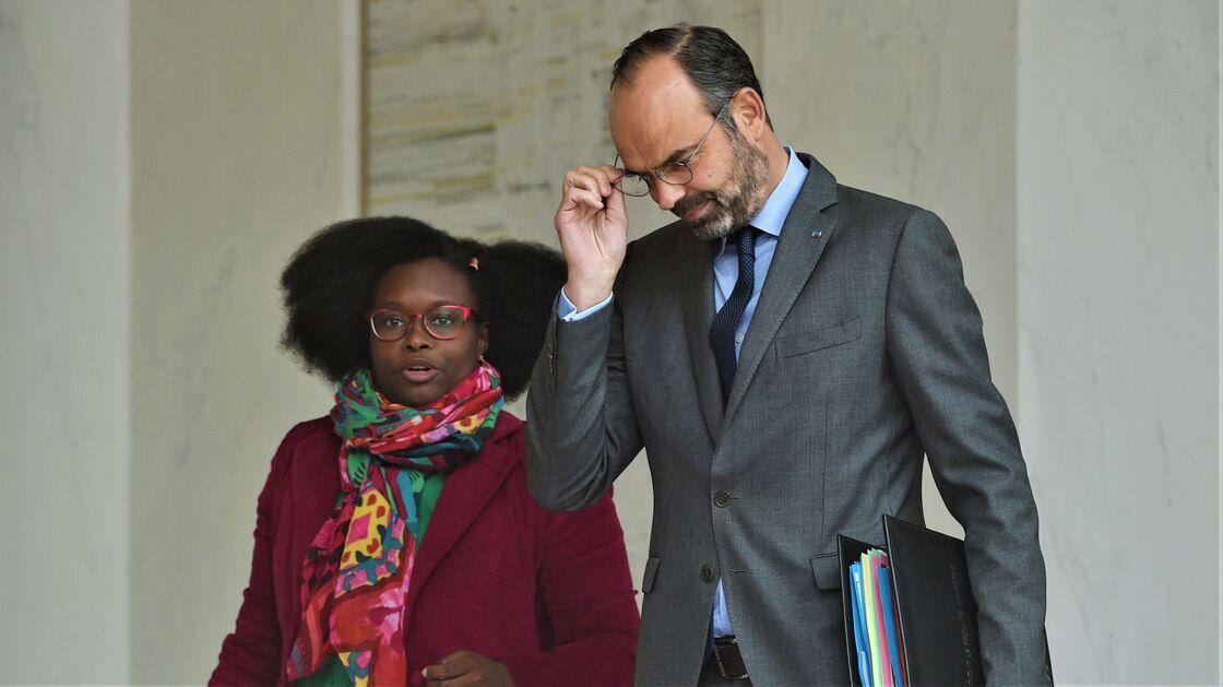 Sibeth Ndiaye et Edouard Philippe