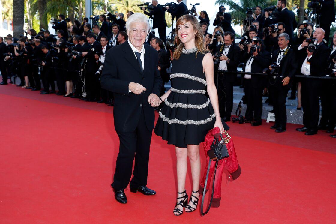 Guy Bedos et sa fille, Victoria, à Cannes le 17 mai 2016