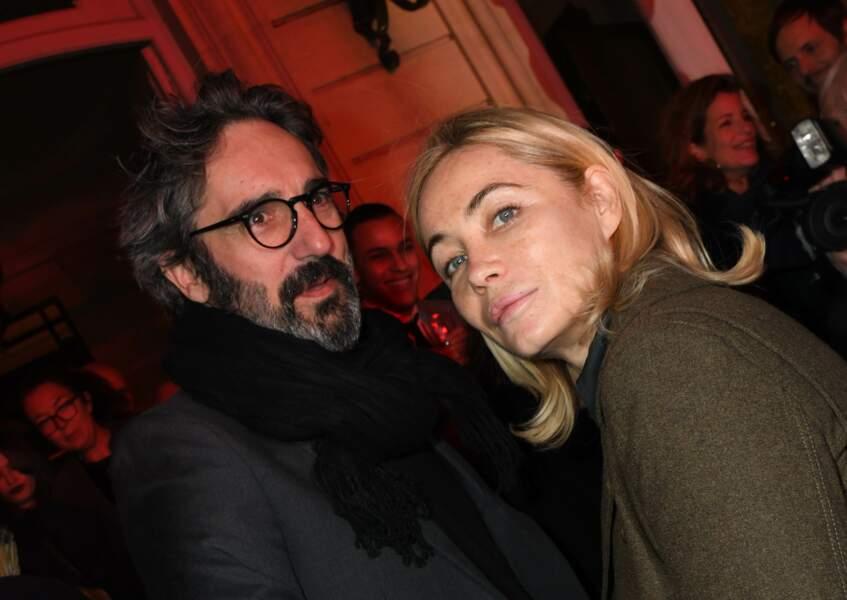 """Emmanuelle Béart et Frédéric Chaudier à la soirée du 10ème anniversaire de l'agence audiovisiuelle """"Flair production""""."""