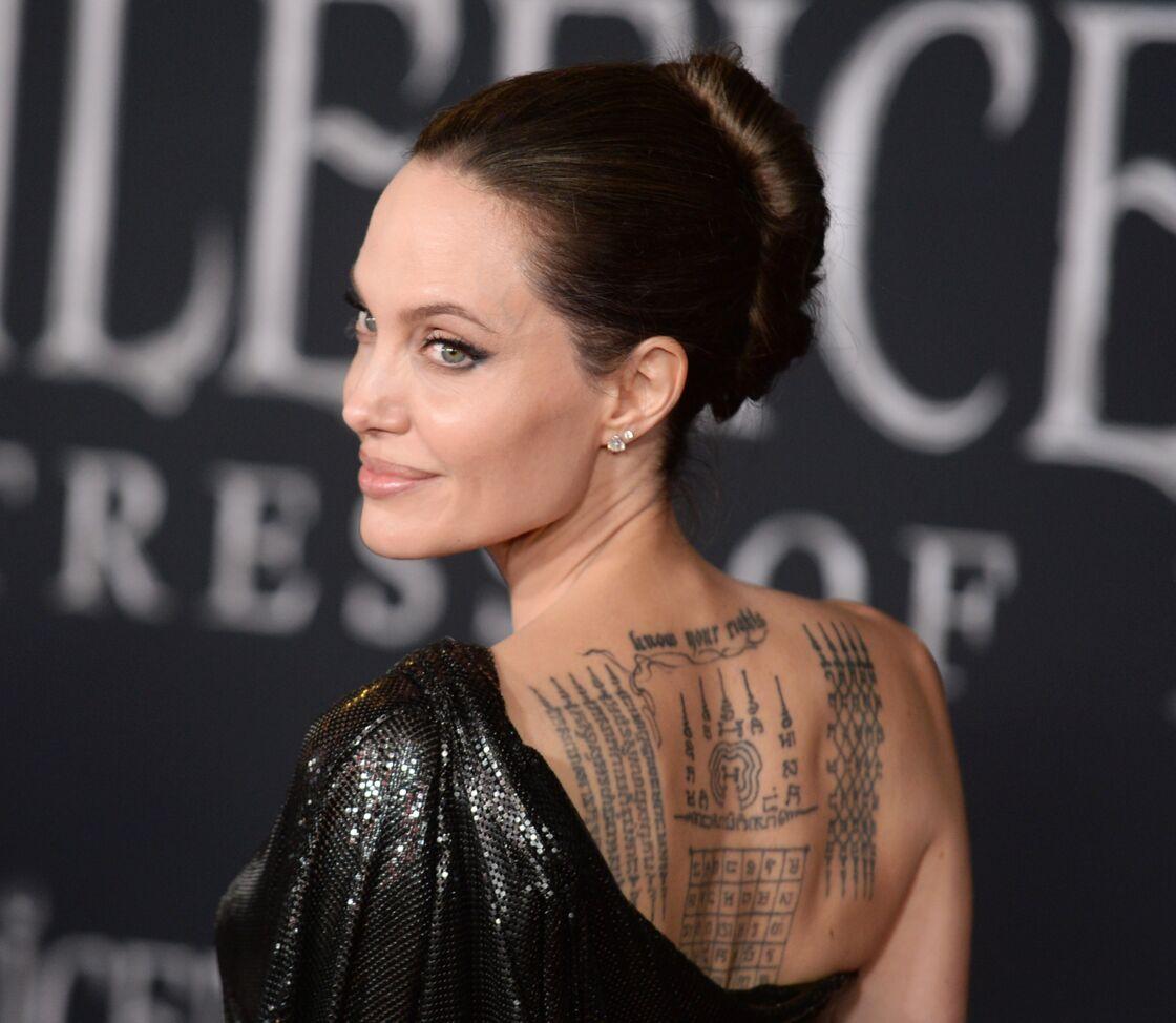 Angelina Jolie et ses nombreux tatouages en 2019