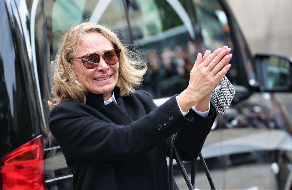 Joëlle Bercot lors des obsèques de son mari Guy Bedos, à Paris, le 4 juin 2020.