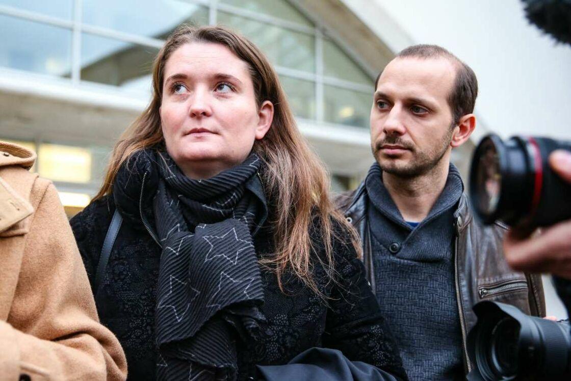 La sœur d'Alexia Daval, Stéphanie Gay et son mari Grégory, le 7 décembre 2018.