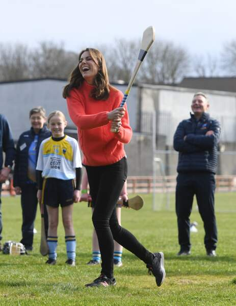 Kate Middleton sportive le 5 mars 2020 à Galway.