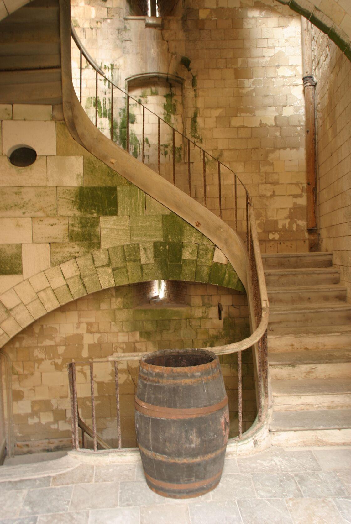 Les escaliers du Fort Boyard