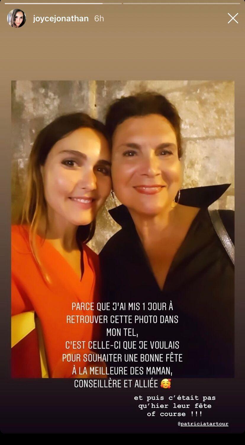 Story Instagram de Joyce Jonathan du 8 juin