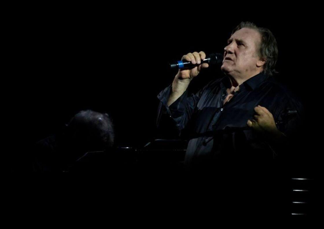 Gérard Depardieu chante Barbara, au Liban en 2019