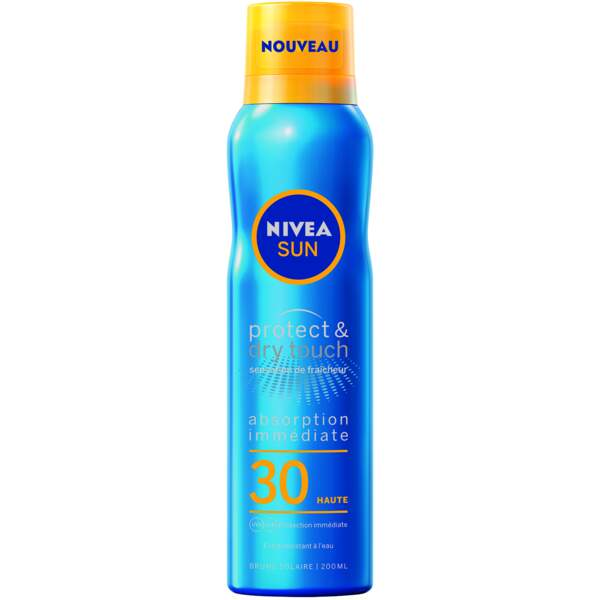 Brume Protect & Dry Touch FPS 30, Nivea Sun, 12,75 €