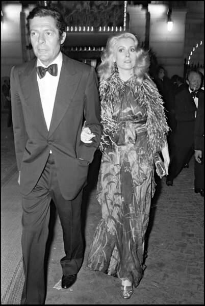 Marcello Mastroianni et Catherine Deneuve au gala de l'Union des artistes, en 1974.