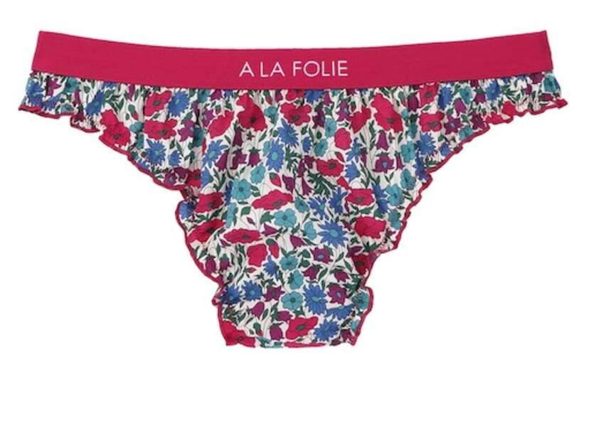"""Culotte bloomer en coton """"à la folie"""", 18€99, Violeta."""