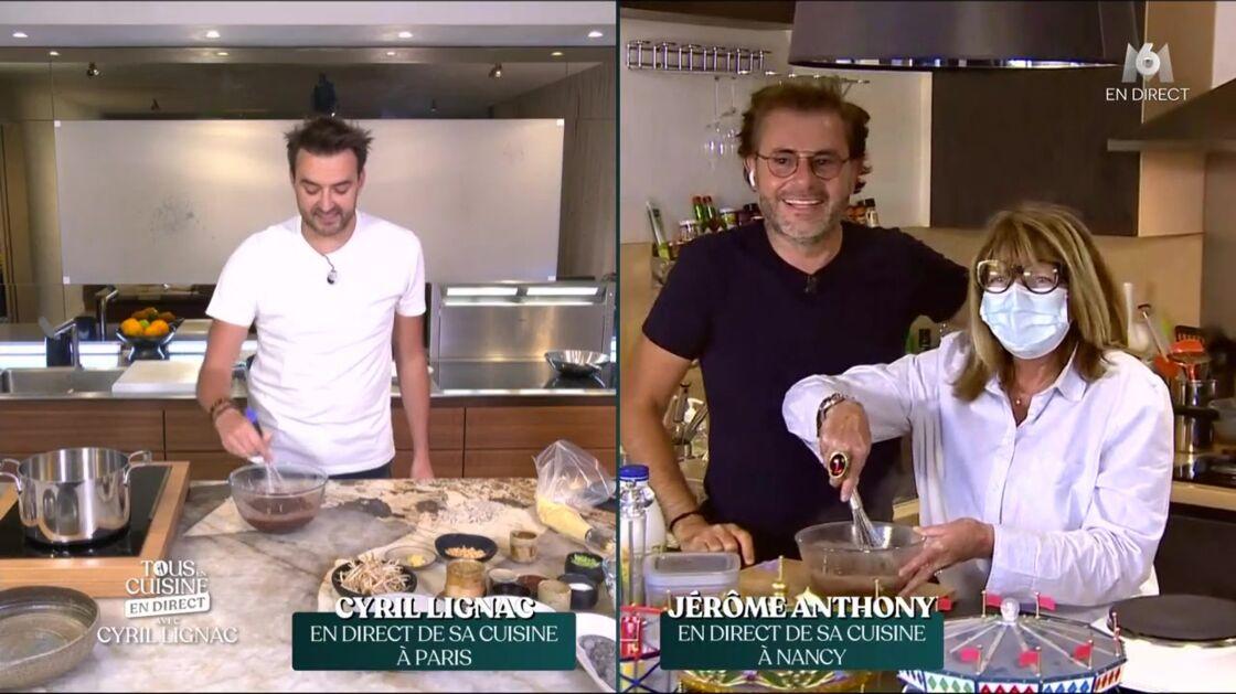 Jérôme Anthony a pu continuer la recette avec sa mère Gigi dans Tous en cuisine.