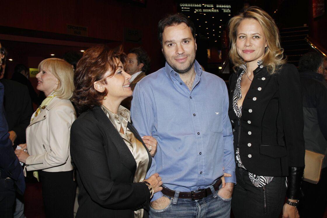 Dominique Tapie, la femme de Bernard Tapie, au côté de leur fils Laurent.