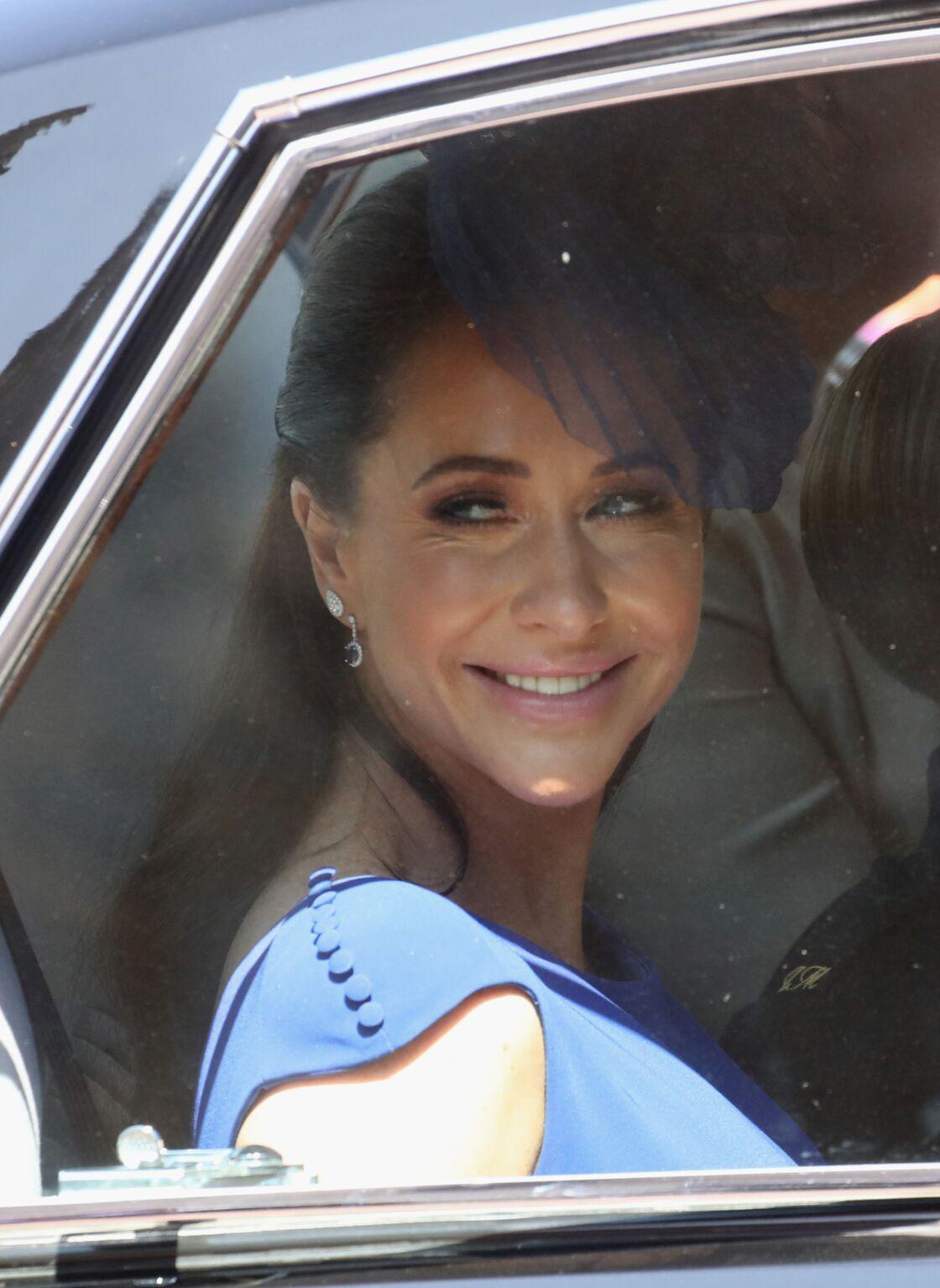 Jessica Mulroney le 19 mai 2018, en route pour le mariage de Meghan Markle et du prince Harry