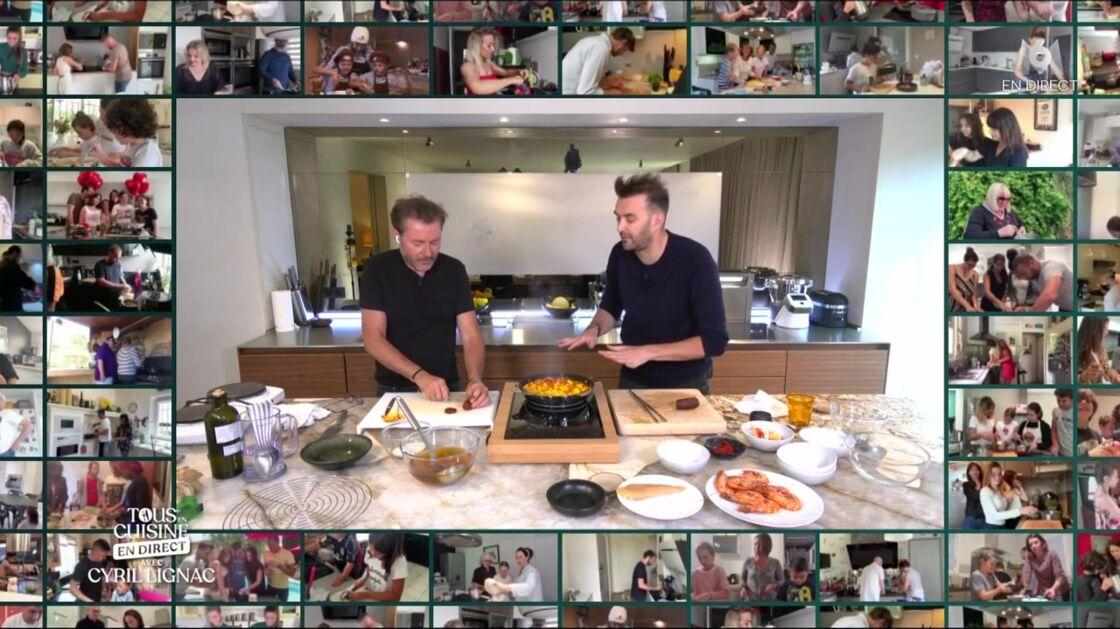 Cyril Lignac et Jérôme Anthony se sont retrouvés dans la cuisine du chef, face à une cinquantaine de familles