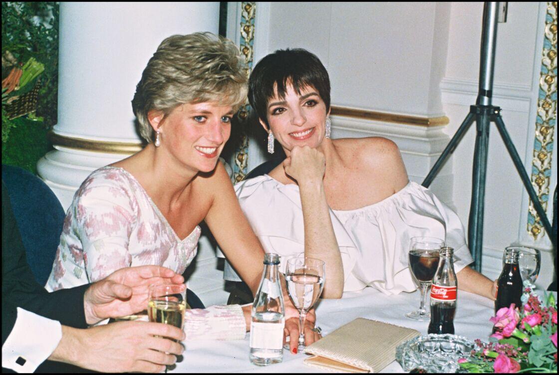 Lady Diana et Liza Minnelli au Langham Hotel de Londres en septembre 1991