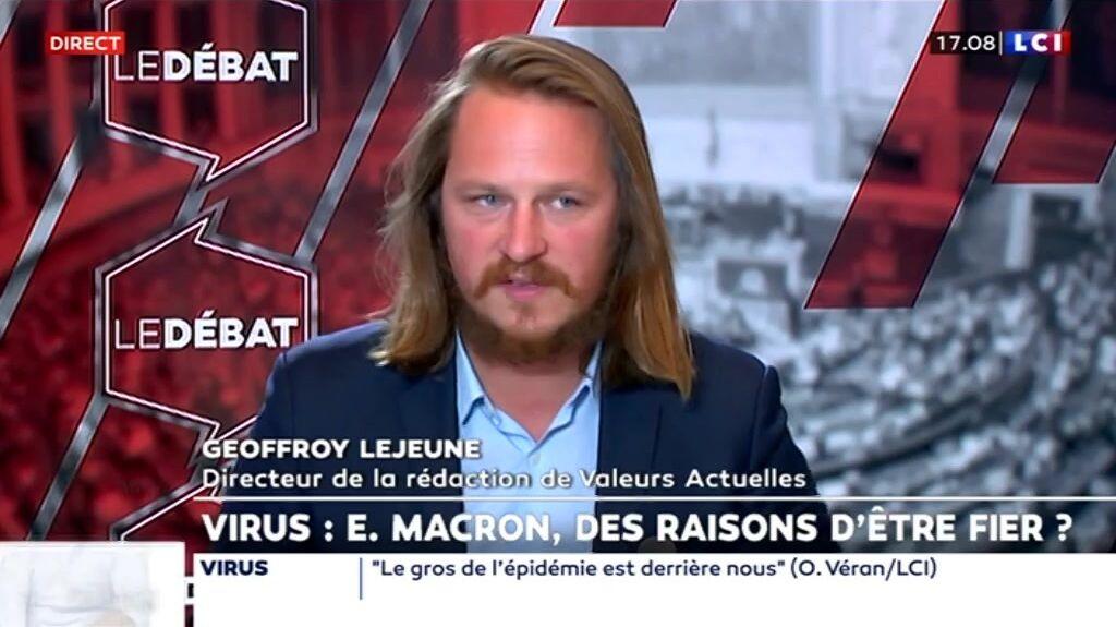 Geoffroy Lejeune, directeur de la rédaction de Valeurs Actuelles.