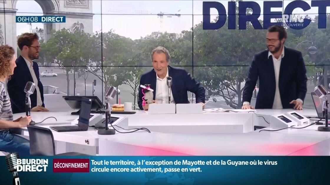 Jean-Jacques Bourdin souffle ses bougies pour ses 71 ans.