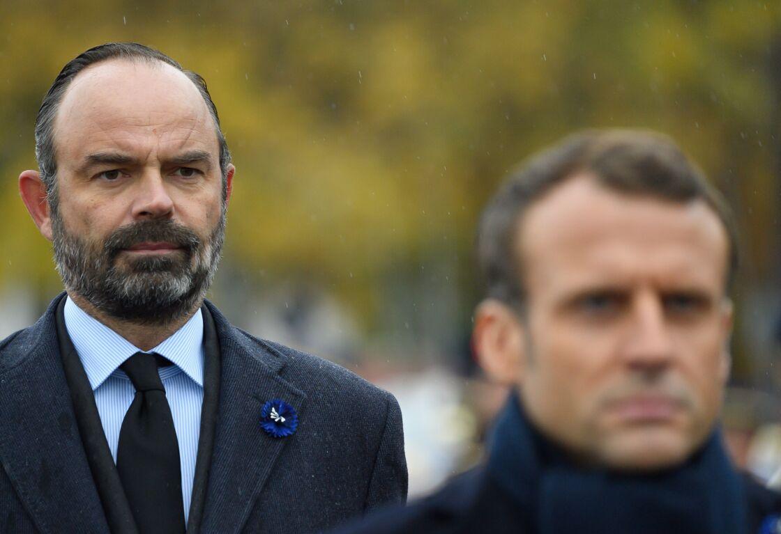 Edouard Philippe et Emmanuel Macron le 11 novembre 2019 à Paris