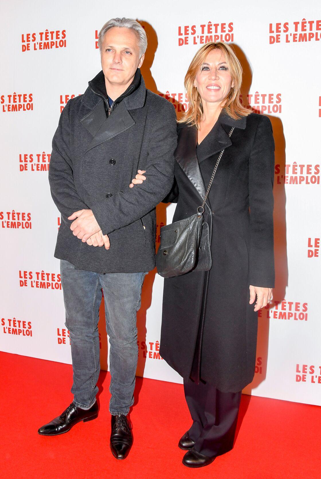Mathieu Petit et sa compagne Mathilde Seigner à Paris le 14 novembre 2016.