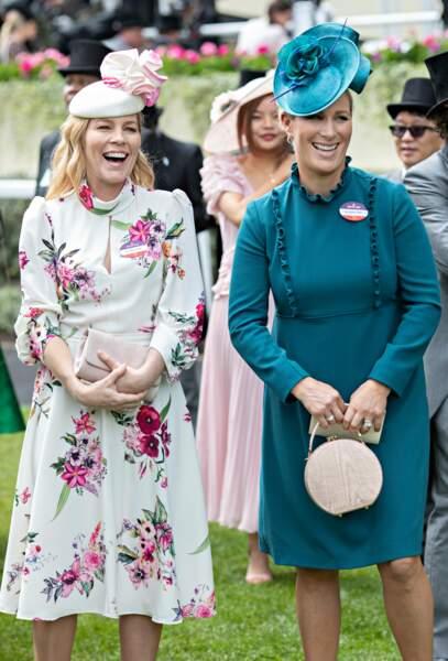 Zara Phillips lors de la réunion hippique d'Ascot, le 20 juin 2019.