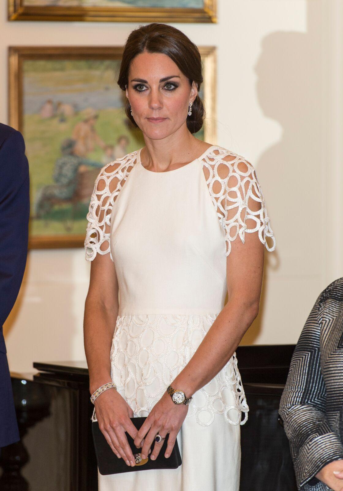 La duchesse de Cambridge, Kate Middleton lors d'une réception à Canberra le 24 avril 2014