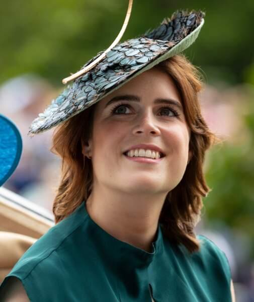 La princesse Eugenie d'York au Ladies Day des courses de chevaux à Ascot le 20 juin 2019.