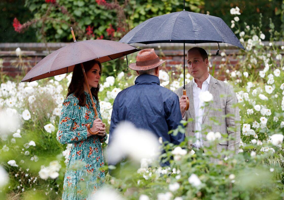 Les jardins de Kensington Palace en hommage à Diana en 2017