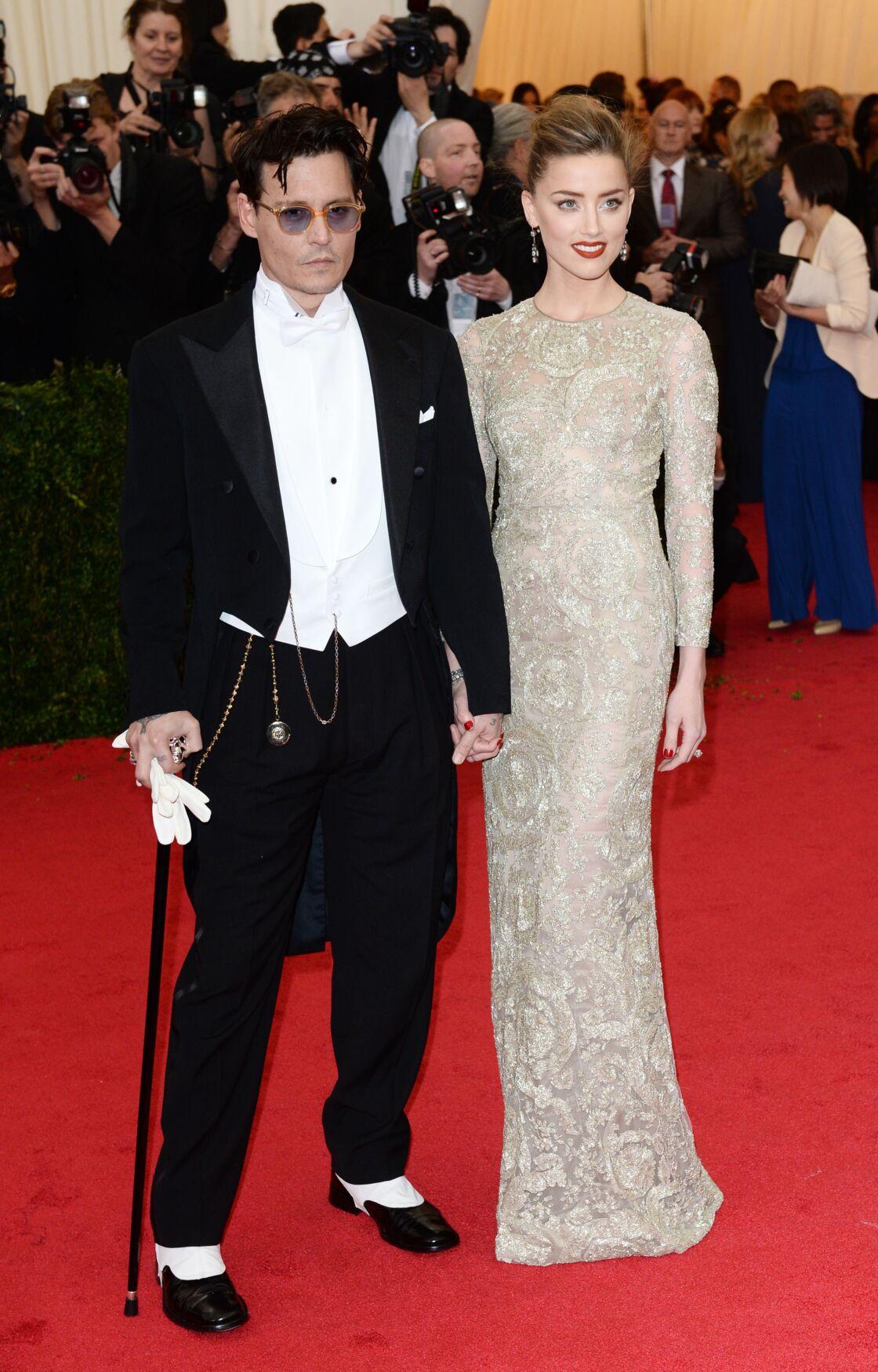 Johnny Depp et Amber Heard à New York, le 5 mai 2014.