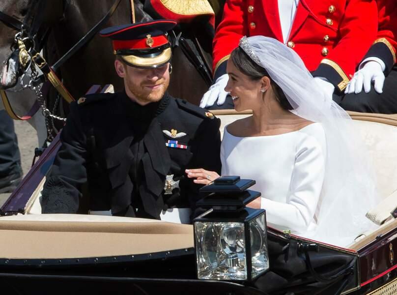 Harry et Meghan Markle se sont mariés au château de Windsor, le 19 mai 2018.