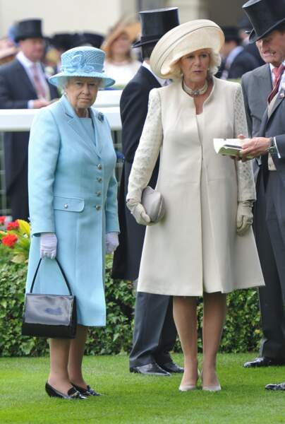 La reine d'Elizabeth et Camilla Parlker Bowles à Ascot le 19 juin 2012