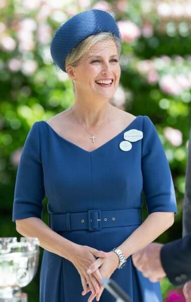 Sophie Rhys-Jones, comtesse de Wessex, lors de la réunion hippique d'Ascot, le 20 juin 2019.