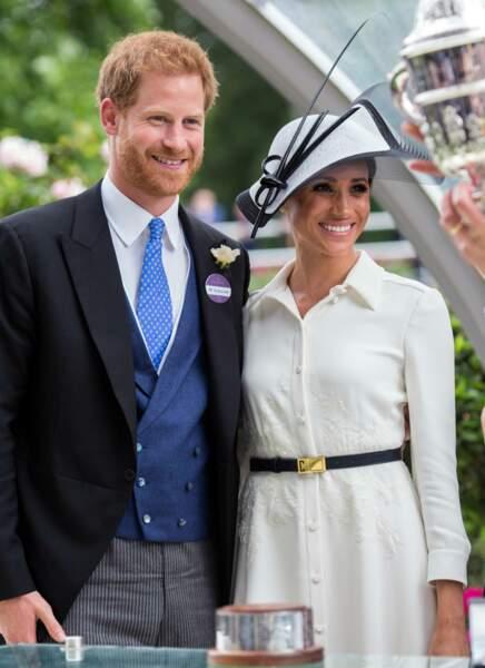 Meghan Markle et le prince Harry lors du Royal Ascot 2018 à l'hippodrome d'Ascot dans le Berkshire. Le 19 juin 2018