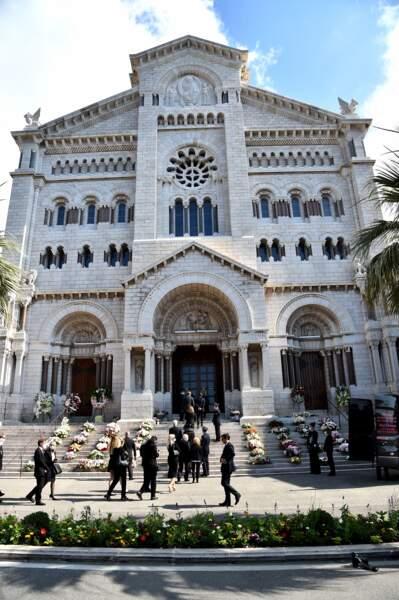 La cérémonie s'est déroulée dans un endroit symbolique de Monaco, la cathédrale Notre-Dame-Immaculée.